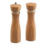 Kesper 2er Set Pfeffermühle & Salzstreuer, Ø 6 x 21,5 cm, aus FSC-zertifiziertem Bambus, mit Keramik-Mahlwerk, naturfarben