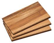 Kesper 3er Set Frühstücksbrettchen aus Akazienholz, FSC-zertifiziert, 23 x 15 x 1 cm, naturfarben
