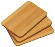 Kesper 3er Set Frühstücksbrettchen aus Buchenholz, 23 x 15 x 1 cm, FSC-zertifiziert, geölt