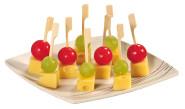 Kesper 50er Pack Party-Pieckser aus Bambus, 12 cm lang, FSC-zertifiziert, mit kleinem Griff, naturfarben, Snack-Spieße