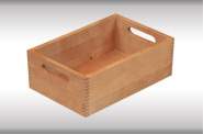 Kesper Aufbewahrungsbox aus Buche, Holzkiste, FSC-zertifiziert, 29 x 18,5 x 11 cm