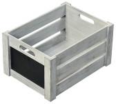 Kesper Aufbewahrungsbox aus Paulowniaholz, 30,5 x 20,5 x 16 cm, in Antik-Optik, FSC-zertifiziert, beschreibbare Fläche