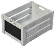 Kesper Aufbewahrungsbox aus Paulowniaholz, 40,5 x 30,5 x 20 cm, in Antik-Optik, FSC-zertifiziert, beschreibbare Fläche