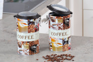 Kesper Aufbewahrungsdose, Küchendose, Vorratsdose, für Kaffee mit Sichtfenster im Deckel, aus Metall, Höhe: 190 mm, Ø 110 mm, sortiert 1 Stück