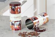 Kesper Aufbewahrungsdose, Küchendose, Vorratsdose, für Kaffeepads, aus Metall, Höhe: 175 mm, Ø 80 mm, sortiert 1 Stück