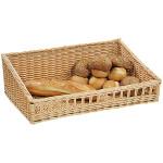 2 Stück Kesper Bäckerei Auslagen Korb flach, Brotkorb, Weidenkorb, Aufbewahrungskorb aus Vollweide, 60 x 40 x 20 cm für Buffet Präsentation