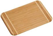 Kesper Bambus Schneidebrett 30 x 20 cm, 1,6 cm Materialstärke, FSC-Bambus, großes Frühstücksbrett aus Holz, Jausenbrett, Brotzeitbrett, Servierbrett