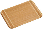 Kesper Bambus Schneidebrett 39 x 29 cm, 1,6 cm Materialstärke, FSC-Bambus, großes Frühstücksbrett aus Holz, Jausenbrett, Brotzeitbrett, Servierbrett