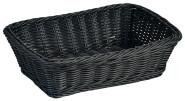 Kesper Brot-/ Obstkorb aus Vollkunststoff Geflecht, 30 x 20 x 8,5 cm, in schwarz
