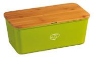 Kesper Brotbox, Brotkasten, Brotaufbewahrung, Deckel als Schneidebrett, aus Melamin, Maße: ca. 340 x 180 x 130 mm, in olivgrün