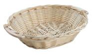 Kesper Brotkorb, Weidenkorb, Korb, mit Textilfutter, groß, aus Weide, Maße: 580 x 450 x 130 mm