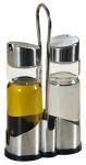 Kesper Essig- & Öl- Menage Set, aus Glas/Edelstahl, 11 x 5,5 cm, Höhe 21,5 cm