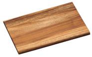 Kesper Frühstücksbrettchen aus Akazienholz, FSC-zertifiziert, 23 x 15 x 1 cm, naturfarben