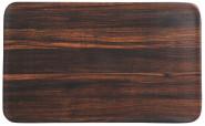 Kesper Frühstücksbrettchen Darkwood aus Melamin, 23,5 x 14,5 cm, Schneidebrett mit 4 Elastikfüßen, spülmaschinengeeignet, Schneidebrett Kunststoff