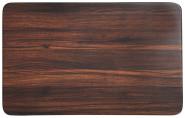 Kesper Frühstücksbrettchen Darkwood aus Melamin, 30 x 19 cm, Schneidebrett mit 4 Elastikfüßen, spülmaschinengeeignet, Schneidebrett Kunststoff