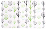 Kesper Frühstücksbrettchen Leafes aus Melamin, 30 x 19 cm, Schneidebrett mit 4 Elastikfüßen, spülmaschinengeeignet, Schneidebrett Kunststoff