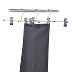 Kesper Hosenspanner mit kunstoffbeschichteten Clips, 3er Pack, aus Metall und Kunststoff, Maße: 5 x 305 mm, blau