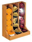 Kesper Kapselhalter aus Bambus, 21 x 12,5 x 28 cm, FSC-zertifiziert, variierbare Breite der Fächer, passend für unterschiedliche Marken