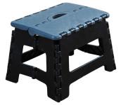 Kesper Klapptritt aus Kunststoff, faltbar, 35 x 27 x 22 cm, Trittfläche 30,5 x 22 cm, in schwarz