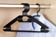 Kesper Kleiderbügel, 6er, Kunststoff, schwarz, 40 cm