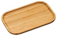 Kesper Kleines Servierbrett aus Bambus, 30,5 x 20 x 2 cm, mit erhöhtem Rand, FSC-zertifiziert, Serviertablett aus Holz