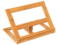 Kesper Kochbuchständer aus Bambus, 33 x 26,5 x 2 cm (Grundmaß), mit 3 verschiedenen Grad-Stufen, FSC-zertifiziertes Holz