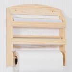 Kesper Küchenrollenständer, Küchenrollenhalter Wand mit Abreißkante, 34 x 11 x 37 cm, FSC Kiefer Holz Wandhalterung