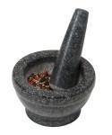 Kesper Mörser mit Schlegel, aus Granit, Höhe: 85 mm, Ø 160 mm, in schwarz