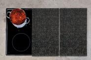 Kesper Multi-Glasschneideplatte, 2er Pack, Motiv: Granit, Kochfeldabdeckung für Glaskeramikplatten, Maße: ca. 520 x 300 x 9 mm