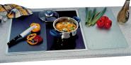 Kesper Multi-Glasschneideplatte, Schneidebrett, Küchenplatte, in Edelstahl Optik, Maße: ca. 520 x 300 x 8 mm