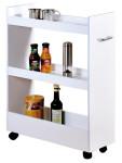 Kesper Nischenregal für die Küche, 22 x 79 x 60 cm, FSC-zertifizierte MDF, weiß melaminbeschichtet, für Gewürze, Essig, Öl, Vorratsdosen, Tassen uvm.