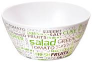 """Kesper Obst- & Salatschale aus Melamin, Ø 15 x H7 cm, Müsli Schale, Salat Schüssel, Joghurt Schale, Optik """"Salad"""""""