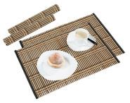 Kesper Platzset 2er-Set, dunkel, Platzdecken, aus Bambus, Maße: 445 x 300 mm, schwarz/natur