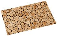 Kesper Platzset aus Kunststoff, 43,5 x 28 x 0,07 cm, in Holzstämme-Optik