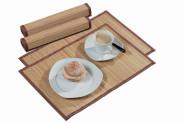 4 Stück Kesper Platzset, Platzdecken, Unterleger, (2 x 2er-Set), hell, aus Bambus, Maße: ca. 445 x 300 mm, in braun/natur
