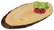 Kesper Rinden-Servierbrett ca. 35-39 x 16 cm aus Erlenholz, Größe S, Jausenbrett, Buffet Platte Dekoration, Brotzeit Platte, lebensmittelecht