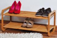 Kesper Schuhregal 74,5 x 33 x 33 cm, aus FSC-zertifiziertem Bambus, stapelbar, Wohnregal, für ca. 6 Paar Schuhe