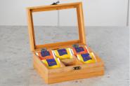 Kesper Tee-Box aus Bambusholz, FSC, 6er Einteilung, 21,7 x 9 x 16 cm