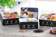 Kesper Teedose, Vorratsdose, Metalldose, Küchendose, aus Metall, Maße: 200 x 145 x 80 mm, sortiert