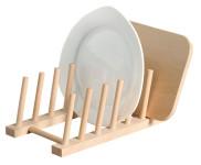 Kesper Tellerständer aus Buchenholz, FSC-zertifiziert, 25 x 14 x 8 cm, geeignet für 6 Teller