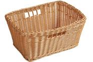 Kesper Tragekorb, Einkaufskorb, Korb mit Tragegriff, eckig, aus Kunststoff, Maße: ca. 350 x 240 x 180 mm, in braun