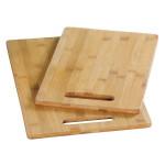 Kesper Vesperbrett, Schneidebrett, Brotzeitbrett, Frühstücksbrett, Fleischbrett, 2er Pack, aus Bambus klein: 30 x 20 x 0,8 cm, groß: 36 x 23 x 0,8 cm