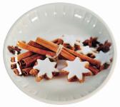 Kesper Weihnachtsteller aus Metall, Keksteller, Ø 32 x 3 cm, mit Plätzchenmotiv,