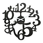 koziol Wanduhr PI:P, Küchenuhr, Kinderuhr, Farbe schwarz, Kunststoff, ca. 45 cm Ø