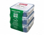 Lock & Lock 3-teiliges Öko-Set 82303 Frischhaltedosen, Vorratsboxen, Vorratsdosen, Kunststoff, quadratisch, 3 x 870 ml