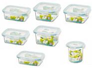 Lock & Lock 7er Frischhalteset Bisfree, bruchfeste Vorratsdosen aus Kunststoff in 7 verschiedenen Größen, Set by Danto®