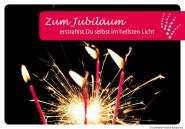 """Luminaria Laternen-Grußkarte """"Zum Jubiläum"""""""