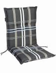 MADISON Dessin Nils Sitzpolster für Stapelsessel, Stuhlauflage niedrig, Niedriglehner 100% Polyester, 100 x 50 x 8 cm, in taupe
