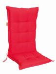 MADISON Dessin Panama Stuhlauflage niedrig, Niedriglehner Auflage, 75% Baumwolle, 25% Polyester, 100 x 50 cm, in rot