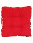 """MADISON Dessin Panama Hockerauflage, Sitzkissen, Sitzpolster """"Florence"""", 75% Baumwolle, 25% Polyester, 47 x 47 cm, in rot"""